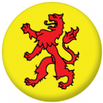 South Holland Region Flag 58mm Button Badge